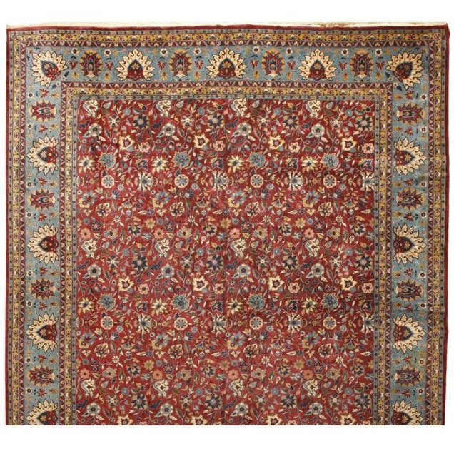 Image of Antique Oversize Persian Kashan Carpet