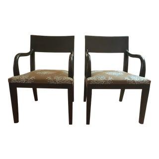 Holly Hunt Olon Arm Chairs - A Pair