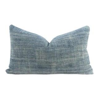 African Indigo Mud Cloth Lumbar Pillow Cover