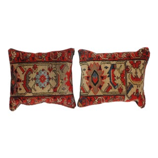 Leon Banilivi Persian Rug Fragment Pillows - A Pair