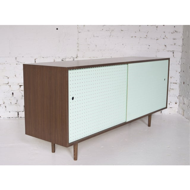 Hand Crafted Walnut Credenza - Image 5 of 6