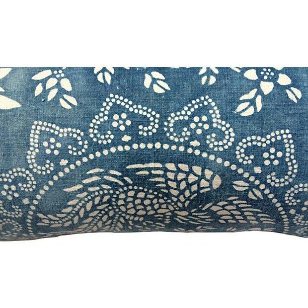 Antique Indigo Crane Batik Body Pillow - Image 5 of 6