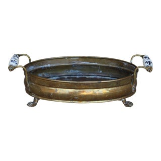 Brass Claw Foot Planter Pot