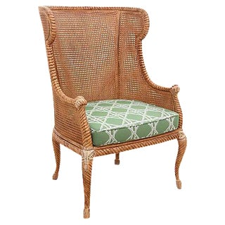 Double Caned Rope Wingback Chair