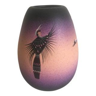 Vintage Native American Cedar Mesa Ceramic Vase