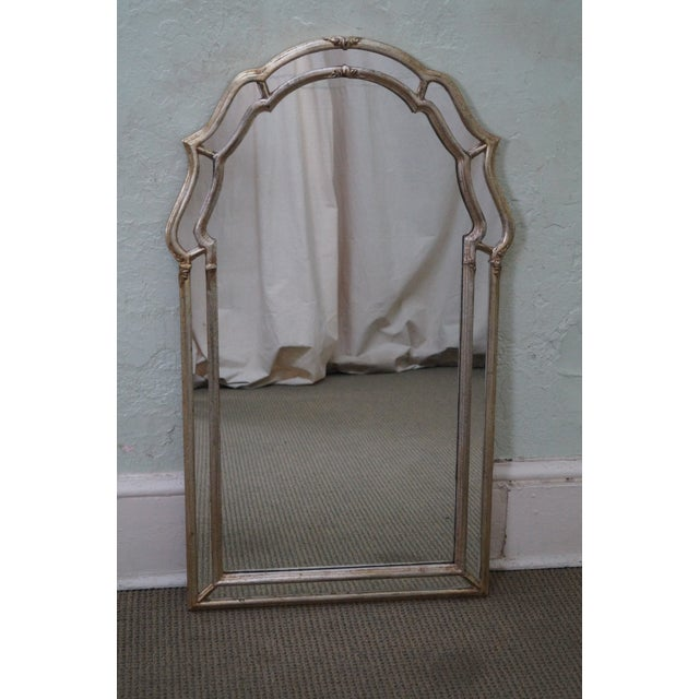 LaBarge Vintage Italian Silver Wall Mirror - Image 2 of 10
