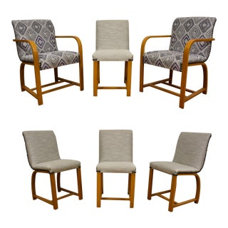 Gilbert Rohde Art Deco Modern Dining Chairs - 6