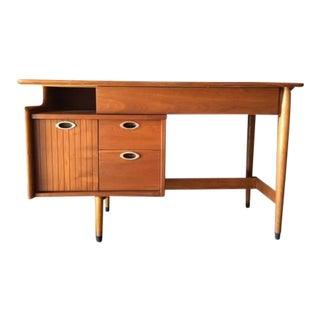 Hooker Mid-Century Refinished Walnut Floating Top Desk