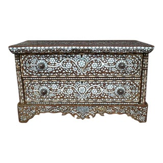 Wonderful 19th Century Syrian Mother of Pearl Dresser Cabinet