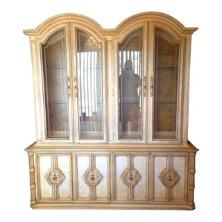 Vintage Stanley Furniture French Rococo Style China Cabinet