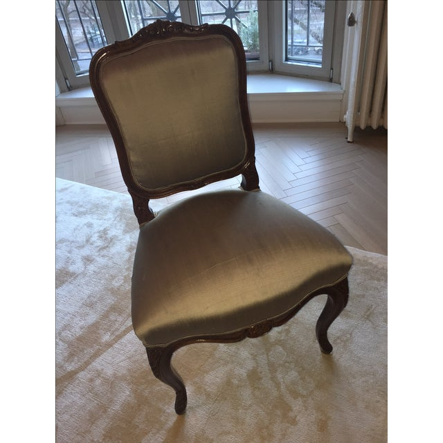 Image of Green Louis XV Style Chairs - Set of 8