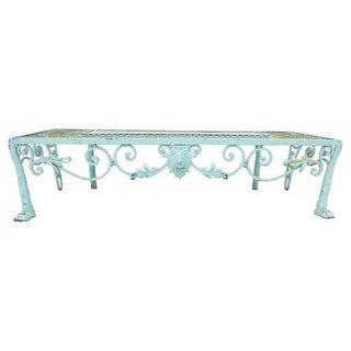French Style Iron Mesh Garden Bench