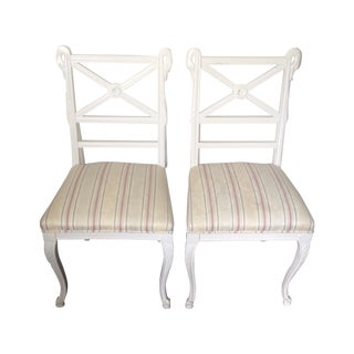 Painted Neoclassical Side Chairs - A Pair