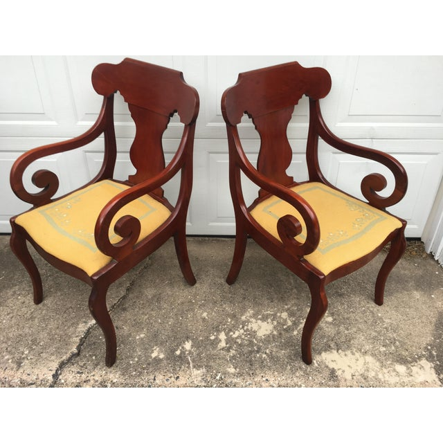 Cherry Arm Chairs - A Pair - Image 2 of 5