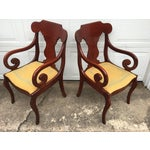 Image of Cherry Arm Chairs - A Pair