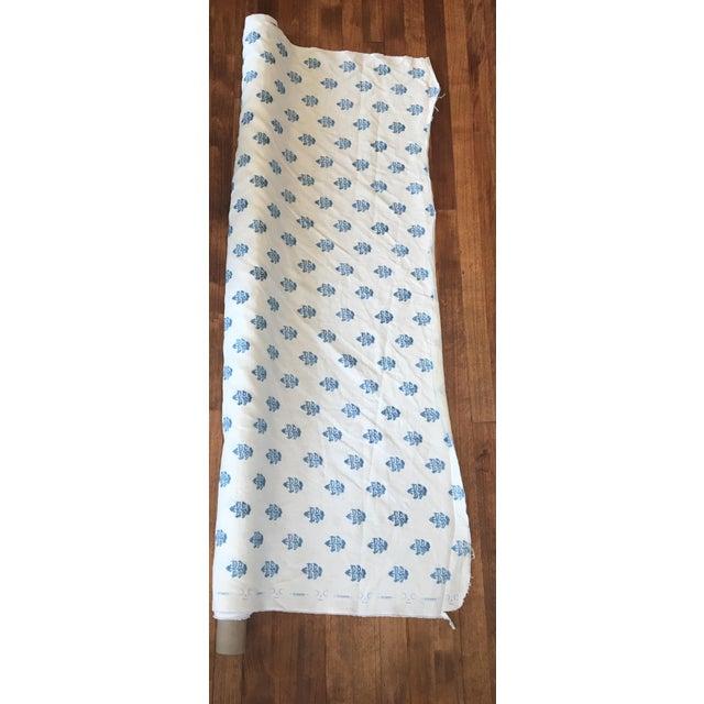 White & Blue C&c Milano Fabric- 3 1/2 Yards - Image 2 of 3