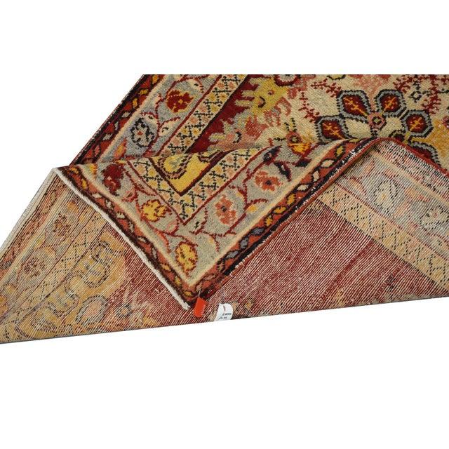 """Vintage Turkish Oushak Rug - 3'3"""" x 6'5"""" - Image 3 of 3"""