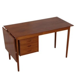 Arne Vodder Danish Modern Expandable & Adjustable Teak Desk