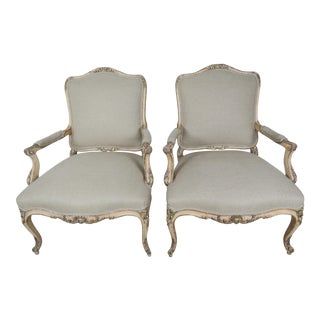 C. 1900 French Parcel Gilt Armchairs - A Pair