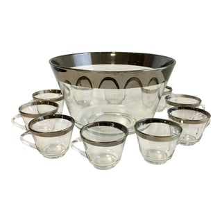 Dorothy Thorpe Punch Bowl & Glasses - Set of 11