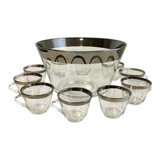 Dorothy Thorpe Punch Bowl & Glasses - Set of 11