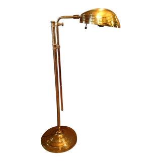 Adjustable Brass Reading Floor Lamp
