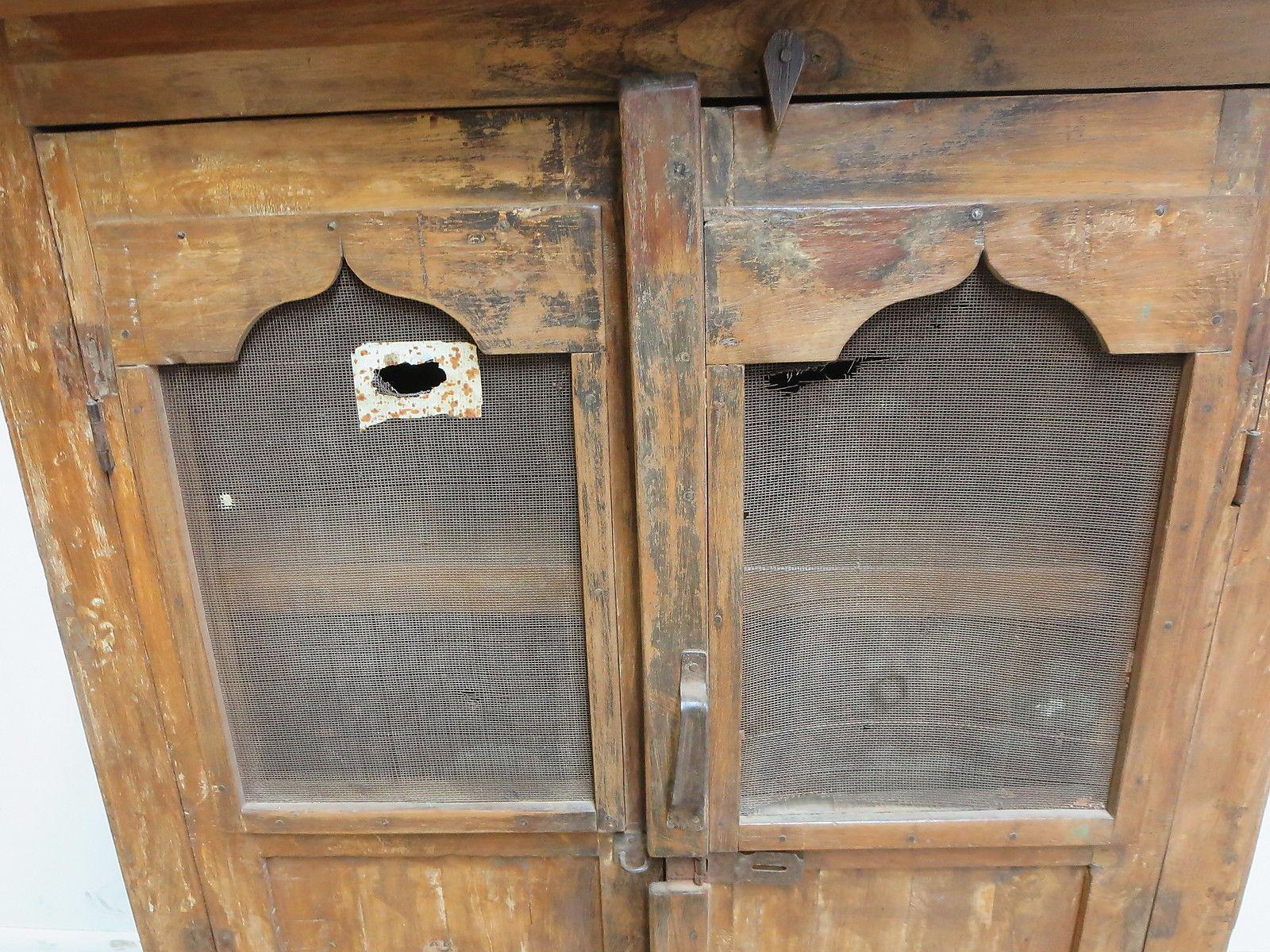 Antique Primitive China Cabinet Cupboard   Image 4 Of 8