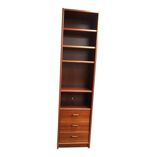 Tall Teak Book Case & Removable Drawer Unit
