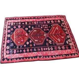 Vintage Handmade Persian Area Rug - 4'9'' x 6'4''