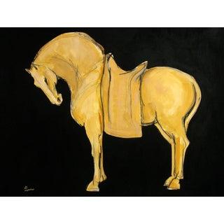 Sienna Tang Horse II Painting by Heidi Lanino