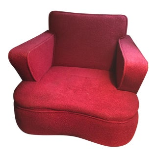 Red Vintage Accent Chair