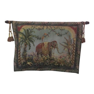 Large Woven Elephant Tapestry