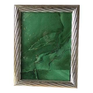 "Italian Silver Easel Back Wood Frame - 9"" x 11"""
