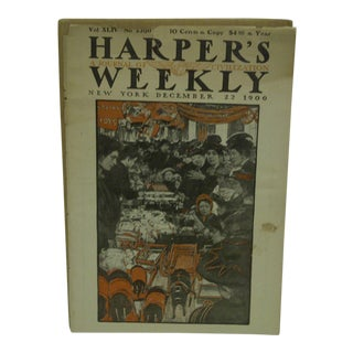 Vintage Harper's Weekly Cover Page New York