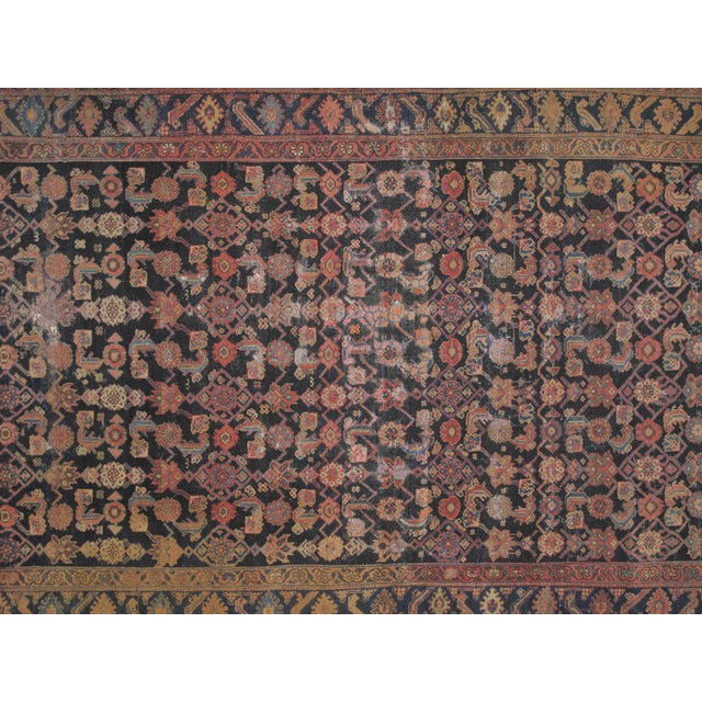 Image of Antique Navy Distressed Malayer Rug - 5′6″ × 10′9″
