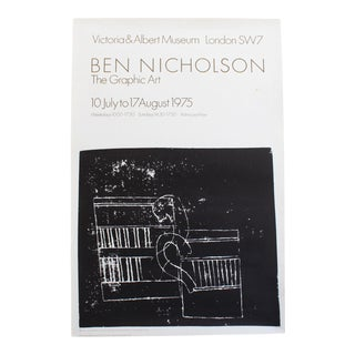 Ben Nicholson Exhibition Poster - The Graphic Art at the Victoria and Albert Museum