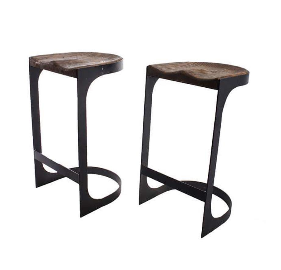 Rustic Wood and Iron Bar Stools A Pair Chairish : 3780a96b 6b8a 469e b686 8935856757dcaspectfitampwidth640ampheight640 from www.chairish.com size 640 x 640 jpeg 22kB