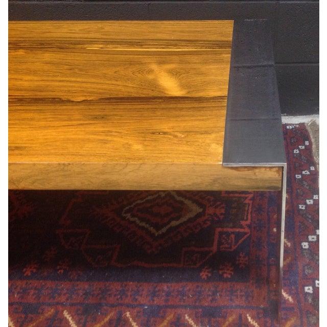 Image of Milo Baughman Rosewood & Chrome Coffee Table