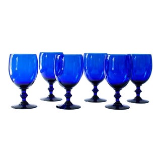 Cobalt Wine Glasses - Set of 6