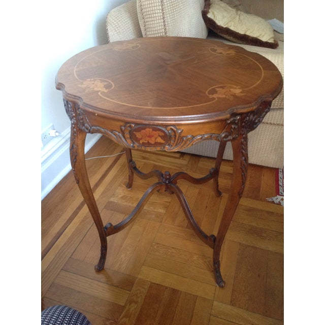 Antique carved wood side table chairish