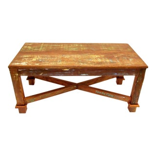 Coffee Table Eco-Friendly Reclaimed Solid Wood