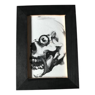"Original Monotype Skull ""Cabeza"" Signed"
