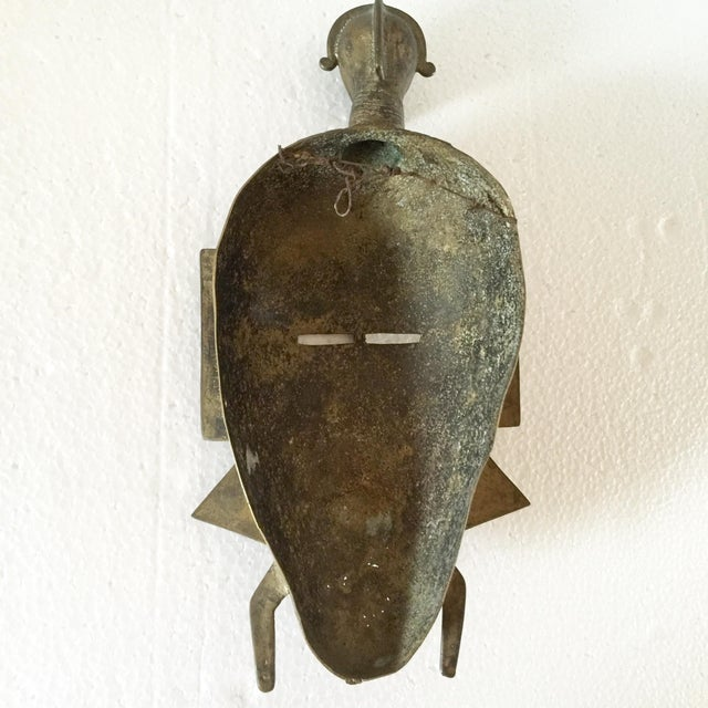 African Brass Mask - Image 4 of 6