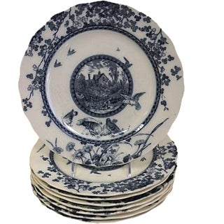 English Aesthetic Movement Plates - Set of 8