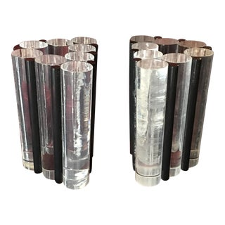 Mid-Century Modern Astrolite Lucite Bookends - a Pair