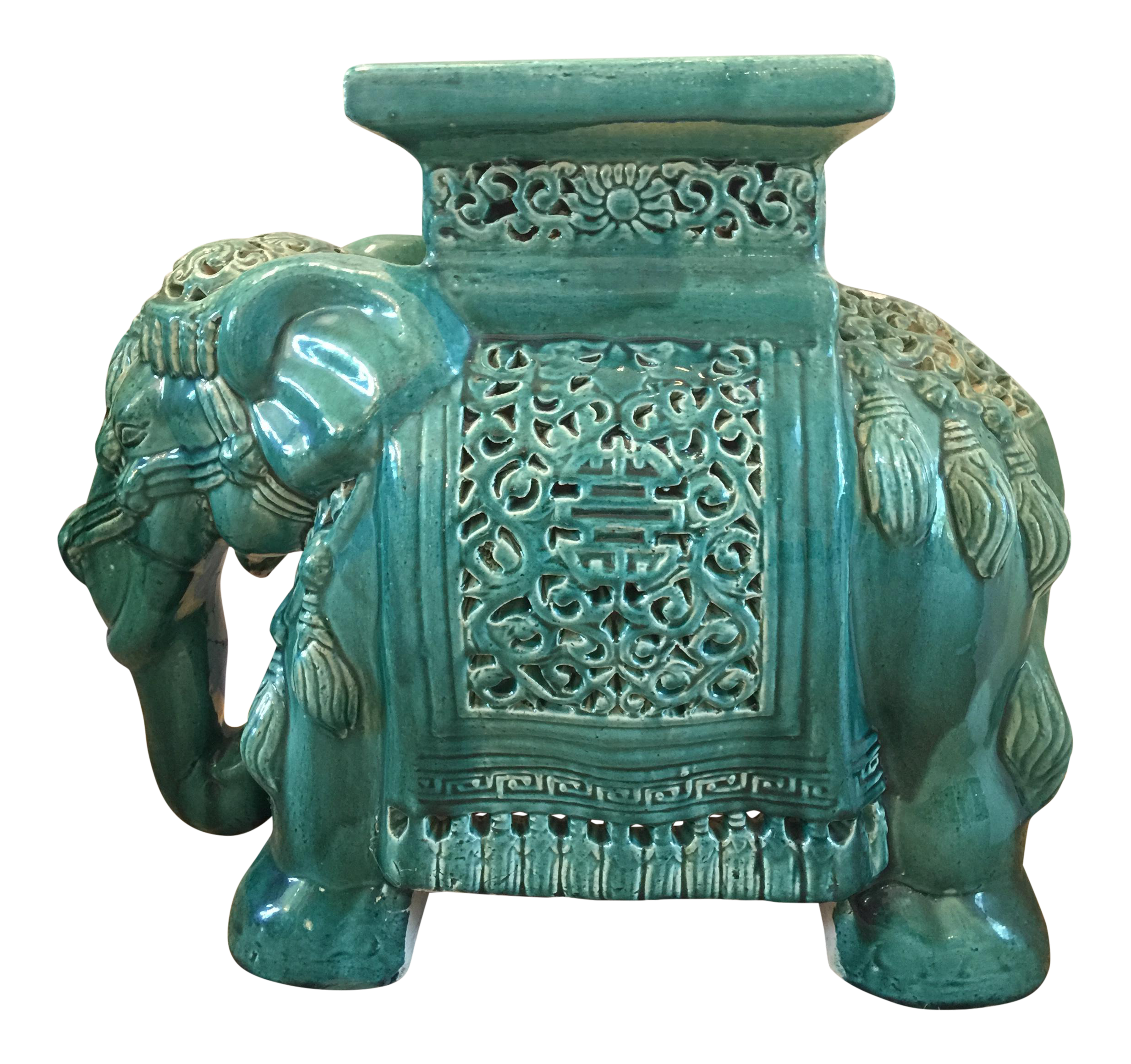 Vintage Chinoiserie Elephant Garden Stool Chairish