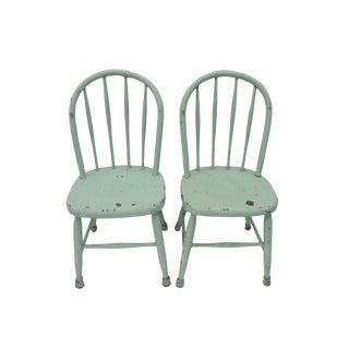 Antique Cottage Children's Chairs - A Pair