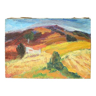 1950s French Oil Landscape, Provence Scene