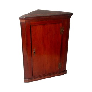 Hand Made C.1875 English Corner Mahogany Cabinet