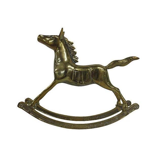 Image of Large Brass Rocking Horse